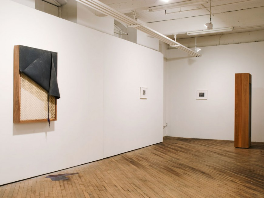Jonathan VanDyke, various works, installation view of Painting Bitten by a Man