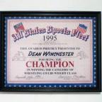 Dean's Wrestling Certificate