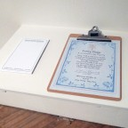 Paper Props: Motel Pad with Purity Pledge signed by Sam Winchester