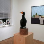 (left to right) Window Tableau by Beth Heinly, Debbie the Double-Crested Cormorant by Peter Morgan & Columbine High School Quilt by Darby Photos