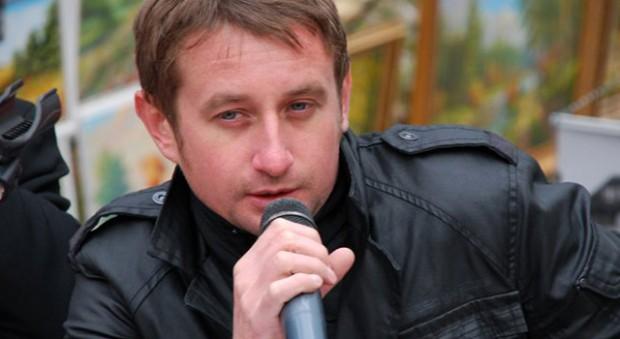 Serhiy Zhadan at a reading