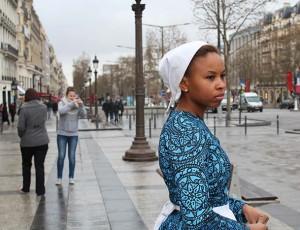 "Video Still from ""Hemings in Paris"" by Marisa Williamson"