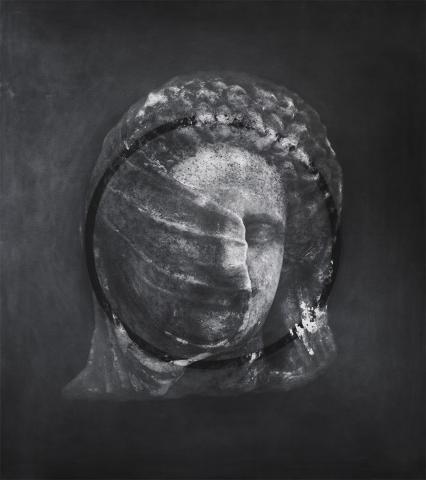 "A Scar is a Question Mark, 2015 Archival pigment print, graphite, aluminum 40x45"""