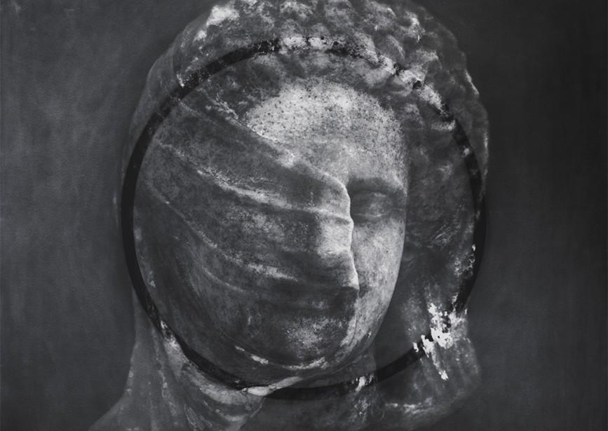 "A Scar is a Question Mark, 2015 Archival pigment print, graphite, aluminum, 40x45"""