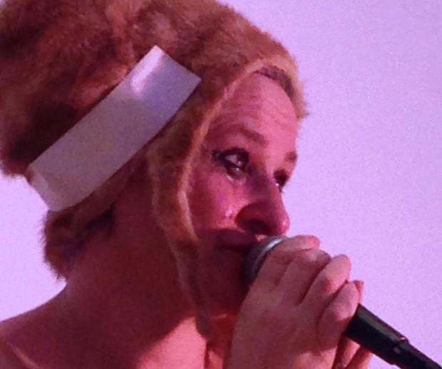 "Christen Clifford, ""Wolf Woman"", New Museum, 2014, photo: Nancy Maloney"