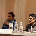The panelists involved in a discussion, Nuala Cabral  and Preeti Pathak pictured.