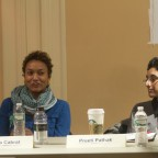 The panelists involved in a discussion, Nuala Cabral, Preeti Pathak pictured.