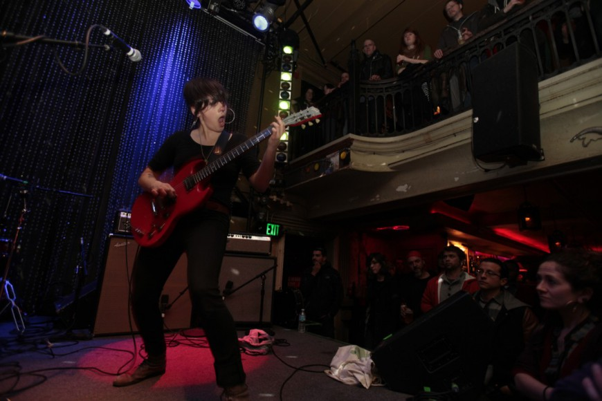 Trophy Wife, an American punk band formed in Washington D.C. in 2009, plays to a packed crowd at Johnny Brendas, during the opening night of Alien She.