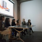 The Full Circle panel fields a question from the audience. From left to right: Lauren Cook, Grace Miceli, Diana Cirullo, Emily Thompson, Claire Folkman, and Kelly Phillips.