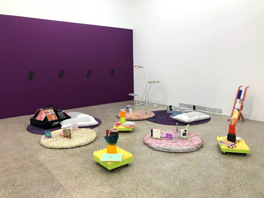 Installation view of The GenderFail Archive Project at the 2018 VCUarts MFA Thesis Exhibition in Richmond, VA