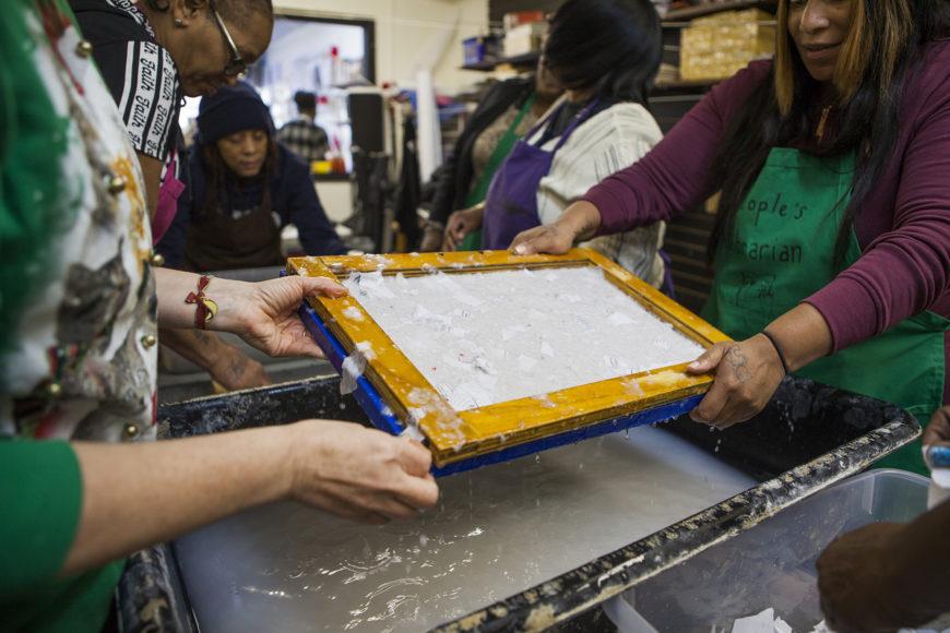 People's Paper Co-Op Paper Making Workshop